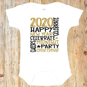 New Year's Eve Party Baby Onesie